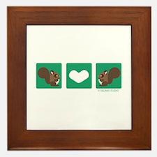 """""""Squirrel + Squirrel"""" Framed Tile"""