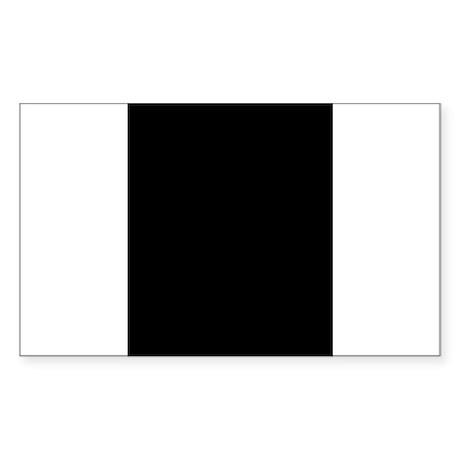 Black Great Dane Profile Rectangle Sticker