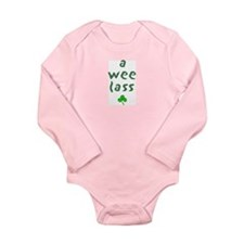 A Wee Lass Long Sleeve Infant Bodysuit