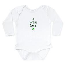 A Wee Lass Long Sleeve Infant Bodysuit