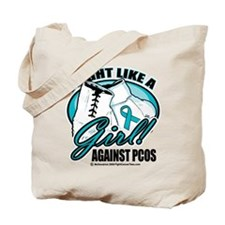 PCOS I Fight Like A Girl Tote Bag