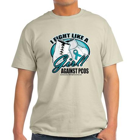 PCOS I Fight Like A Girl Light T-Shirt