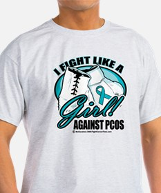 PCOS I Fight Like A Girl T-Shirt