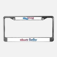 PinkBlue SIGN BABY License Plate Frame
