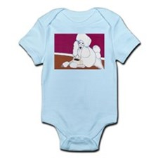White Poodle Coffee Dog Infant Creeper