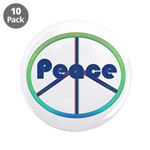Blue / Green Peace Sign 3.5