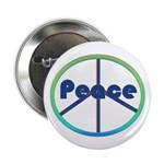Blue / Green Peace Sign 2.25