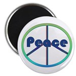 Blue / Green Peace Sign Magnet