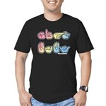 Pastel SIGN BABY SQ Men's Fitted T-Shirt (dark)