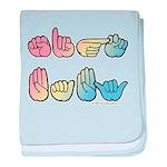 Pastel SIGN BABY SQ Infant Blanket