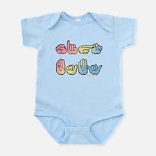 Pastel SIGN BABY SQ Infant Bodysuit