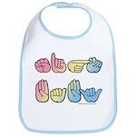 Pastel SIGN BABY SQ Bib