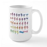 Pastel SIGN BABY SQ Large Mug