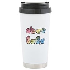 Pastel SIGN BABY SQ Travel Mug