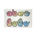Pastel SIGN BABY SQ Rectangle Magnet (10 pack)
