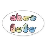 Pastel SIGN BABY SQ Sticker (Oval)