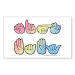 Pastel SIGN BABY SQ Sticker (Rectangle 50 pk)