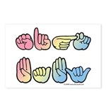 Pastel SIGN BABY SQ Postcards (Package of 8)