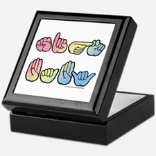 Pastel SIGN BABY SQ Keepsake Box