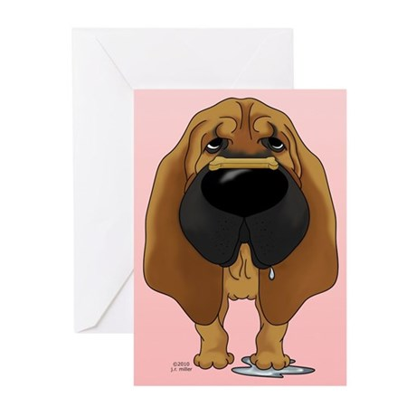 Bloodhound Valentine Greeting Cards (Pk of 10)