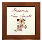 Grandmas Are Angels Framed Tile