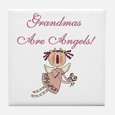 Grandmas Are Angels Tile Coaster