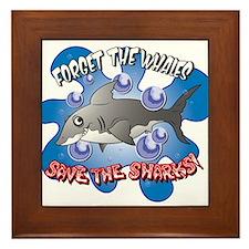 Save the Sharks Framed Tile