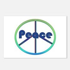 Blue / Green Peace Sign Postcards (Package of 8)