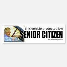 This vehicle protected by senior citizen