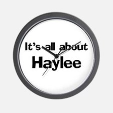 It's all about Haylee Wall Clock