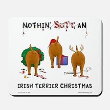 Irish Terrier Christmas Mousepad