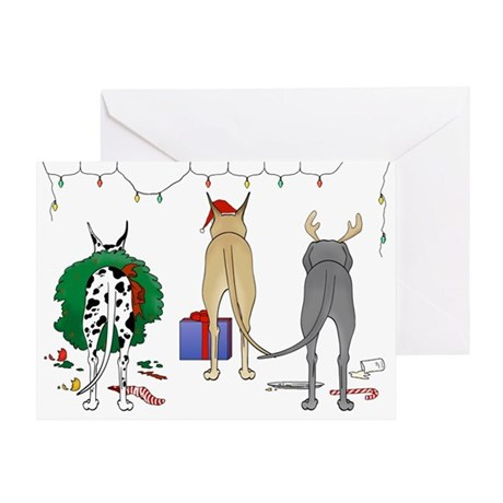 Great Dane Christmas Greeting Card