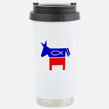Christian Fish Dem Donkey Travel Mug