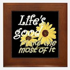 Life''s Good Framed Tile