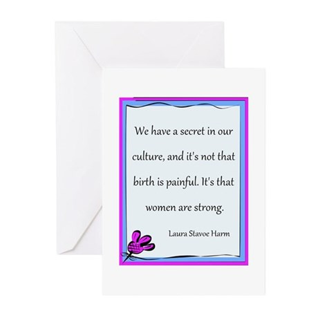 Women Are Strong 3 Greeting Cards (Pk of 10)