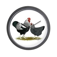 Plymouth Rock Penciled Chicke Wall Clock