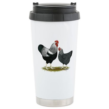 Plymouth Rock Penciled Stainless Steel Travel Mug