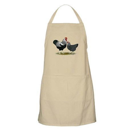 Plymouth Rock Penciled Chickens Apron