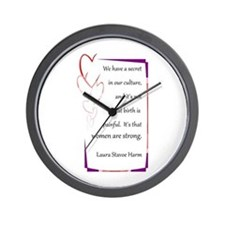 Women Are Strong 4 Wall Clock
