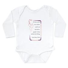 Women Are Strong 4 Long Sleeve Infant Bodysuit