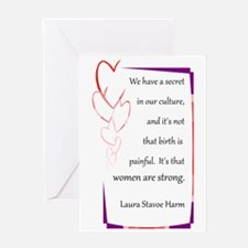 Women Are Strong 4 Greeting Card