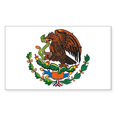 Mexican Coat of Arms Rectangle Sticker