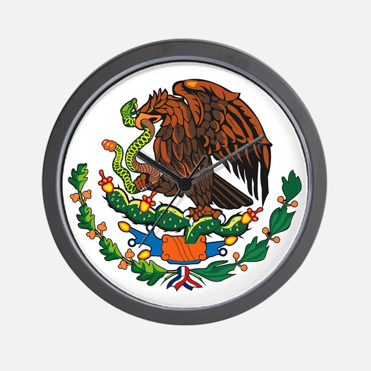 Mexican Coat of Arms Wall Clock