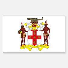 Jamaican Coat of Arms Rectangle Decal