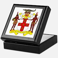 Jamaican Coat of Arms Keepsake Box