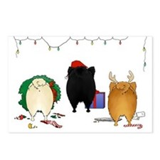 Pomeranian Christmas Postcards (Package of 8)