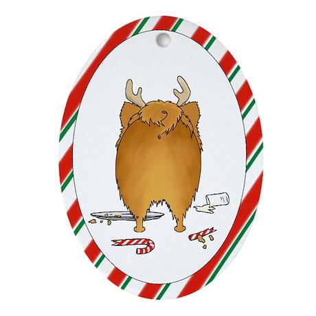 Pomeranian Christmas Ornament (Oval)