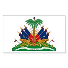 Haiti Coat of Arms Rectangle Decal