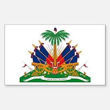 Haiti Coat of Arms Rectangle Decal