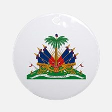 Haiti Coat of Arms Ornament (Round)